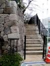石垣脇の階段