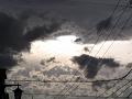 曇り空(電線)