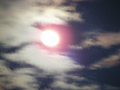 雲の向こうで輝く