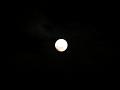 満月に群雲