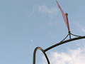 滑り台と月